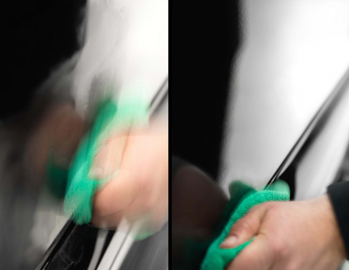 Aanbrengen krasverwijdering product
